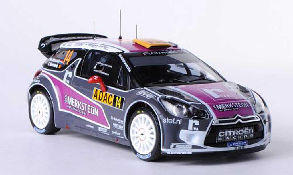DS Automobiles DS3 WRC 2011 1/43 IXO No.14 van Merksteijn International P.Van Merksteijn / E.Mombaerts Rally Deutschland miniature