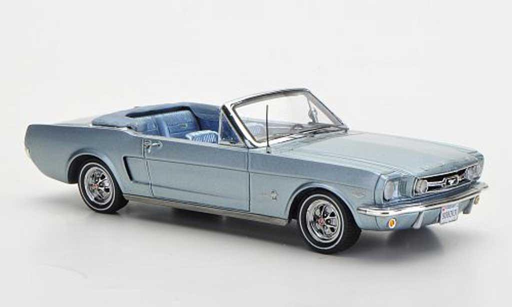 Ford Mustang 1966 1/43 Spark 1966 Convertible bleu Sondermodell MCW L.E. 300 miniature