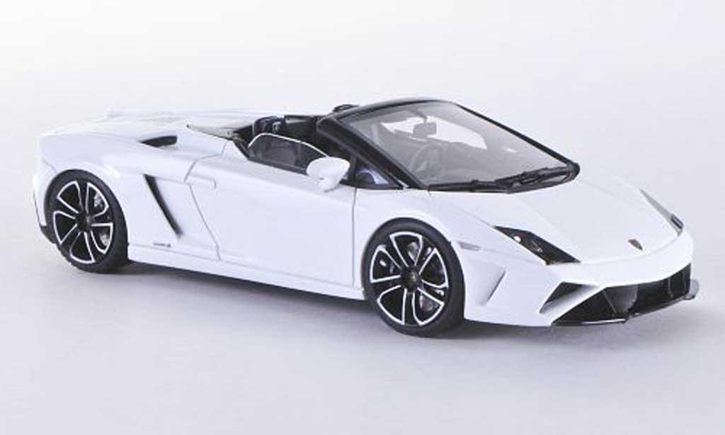 Lamborghini Gallardo LP560-4 1/43 Look Smart LP560-4 Spyder bianca miniatura