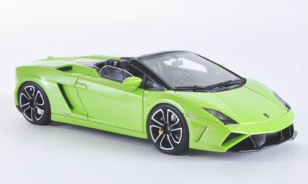 Lamborghini Gallardo LP560-4 1/43 Look Smart Spyder verte miniature