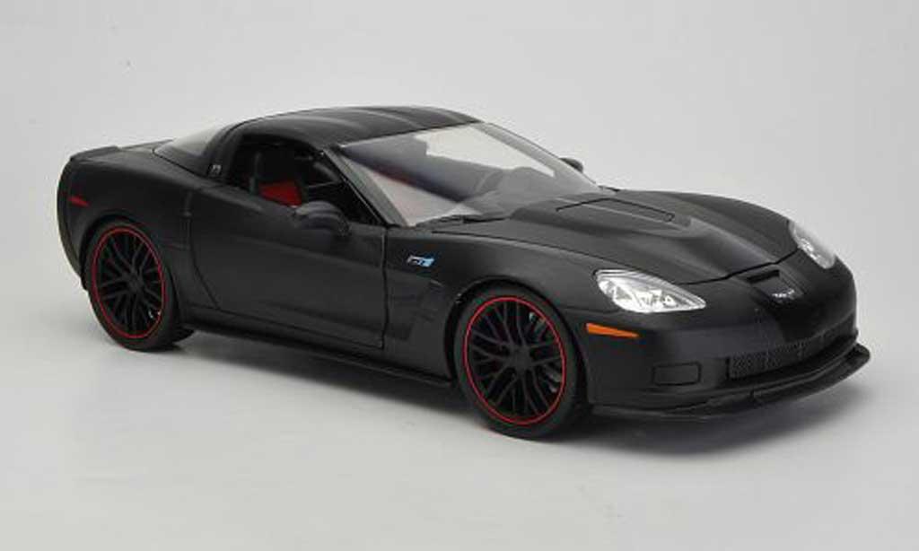 Chevrolet Corvette C6 1/18 Jada Toys Toys matt black/black 2009 diecast model cars