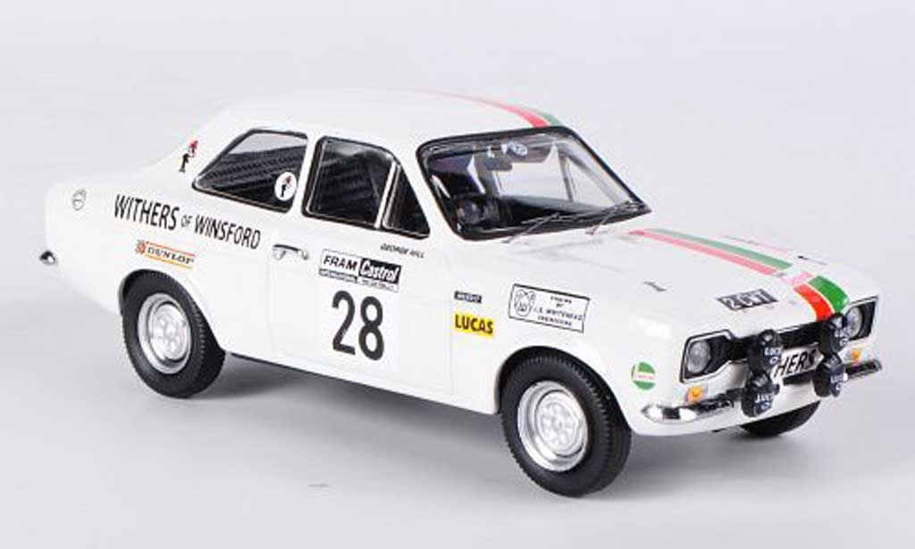 Ford Escort MK1 1/43 Trofeu Mexico No.28 Withers of WinsWelsh Rally 1972 Hill/Wood diecast model cars