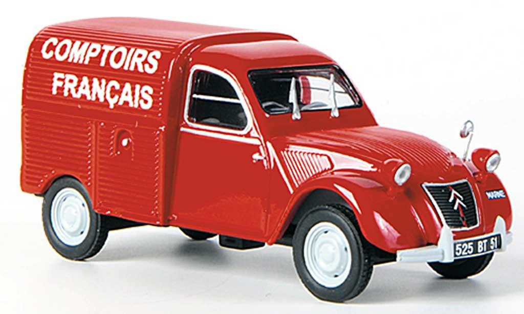 Citroen 2CV 1/43 Eligor AZU Comptoirs Francais diecast model cars