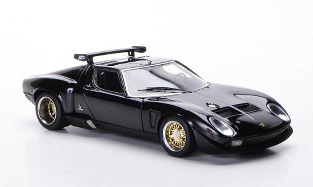Lamborghini Miura Jota 1/43 FrontiArt SVR nero 1972 modellino in miniatura
