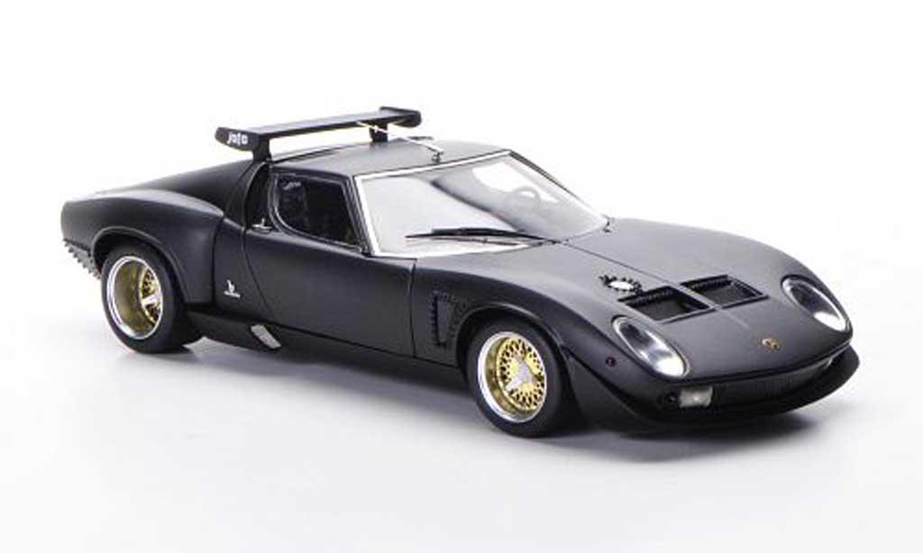 Lamborghini Miura Jota 1/43 FrontiArt SVR matt black 1972 diecast model cars
