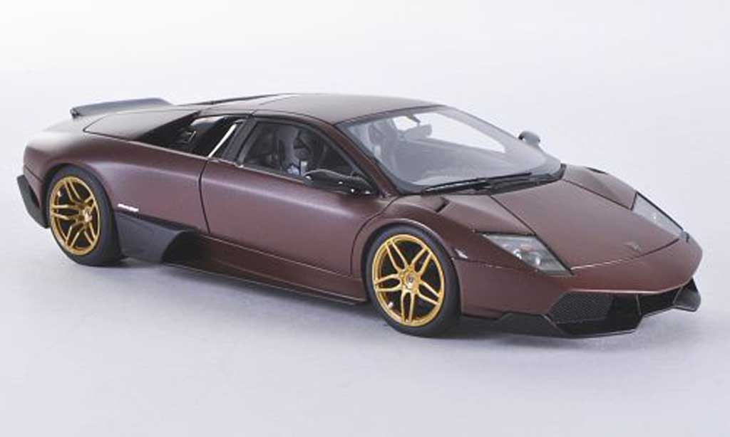 Lamborghini Murcielago LP670-4 1/43 Look Smart SV Fixed Wing mattbrown diecast model cars