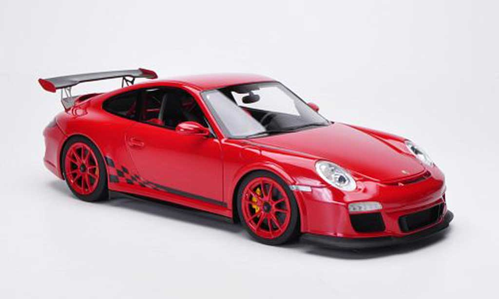 Porsche 997 GT3 RS 1/18 FrontiArt 2010 rouge/noire miniature