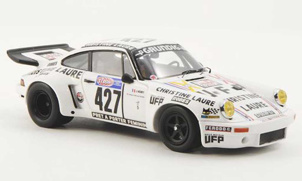 Porsche 930 RSR 1/43 Spark No.427 Christine Laure J.Henry / E.B.Grobot Tour de France Automobile 1976 miniature