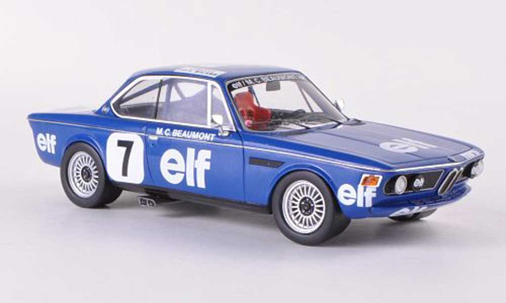 Bmw 3.0 CSL 1/43 Spark No.7 Elf Championnat de France Production 1976 M.C.Beaumont diecast model cars