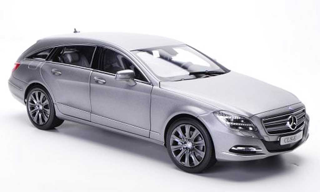 Mercedes Classe CLS Shooting Brake 1/18 Norev (X218) matt gray 2012 diecast