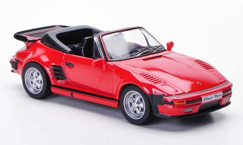 Porsche 930 1/43 Solido Carrera Cabriolet Flatnose rouge 1989 miniature