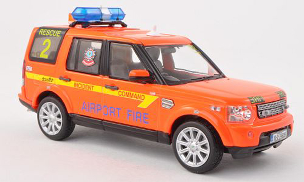 Land Rover Discovery 1/43 IXO 4 Dublin Airport feu Service Rescue pompiers (IRL) 2010 miniature