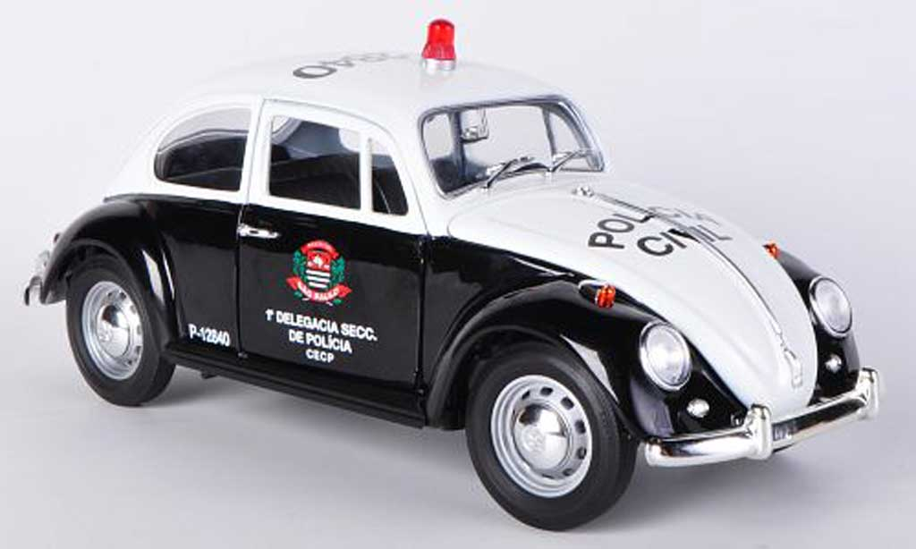 Volkswagen Kafer 1/18 Greenlight Policia Civil - Sao Paulo Polizei (BRA) 1967 modellino in miniatura