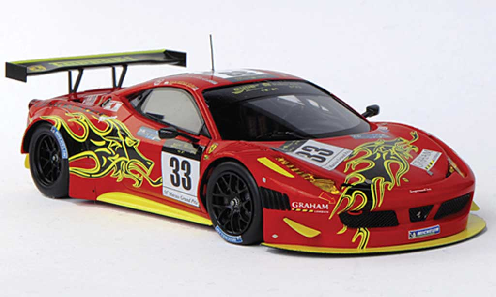 Ferrari 458 Italia GT3 1/43 Fujimi No.33 Clearwater Racing Mok Weng Sun GP Macao 2011
