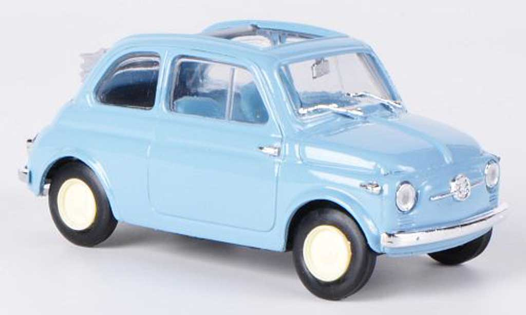 Fiat 500 1/43 Brumm Nuova Economica bleu Faltdach geoffnet 1957 miniature