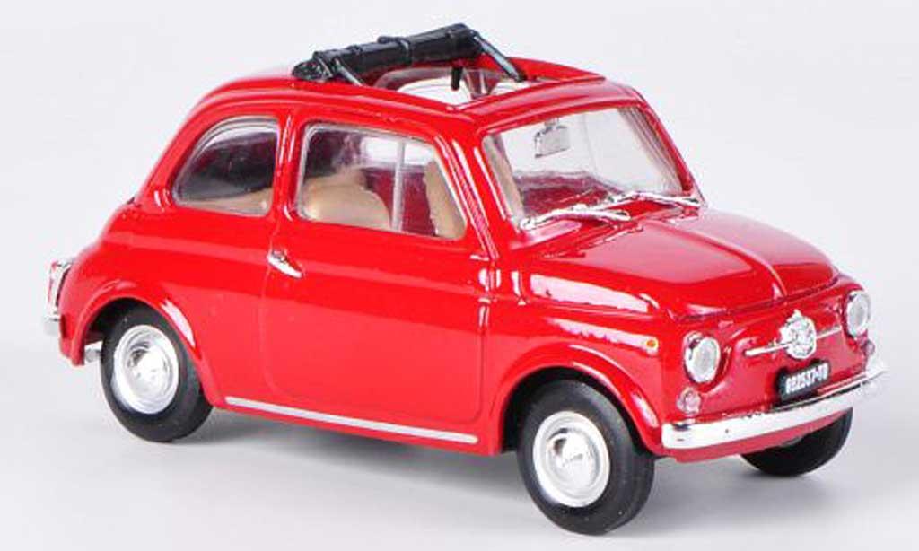 Fiat 500 F 1/43 Brumm red altdach geoffnet 1965 diecast model cars