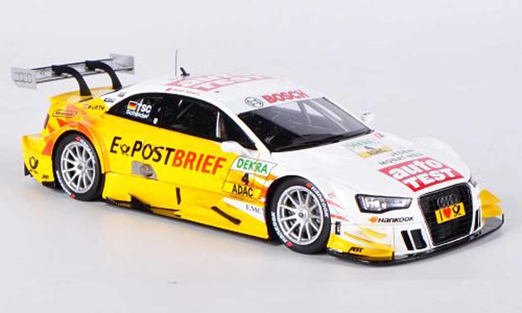 Audi A5 DTM 1/43 Spark No.4 Auto Test T.Scheider DTM-Saison 2012 miniature