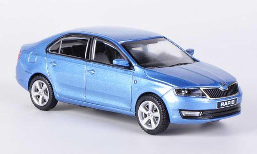 Skoda Rapid 1/43 Abrex bleu 2012 miniature