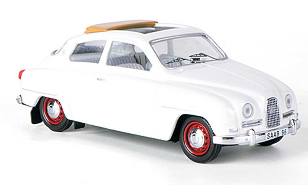 Saab 96 1/43 Skandinavisk white geoffnetes Faltdach 1960 diecast