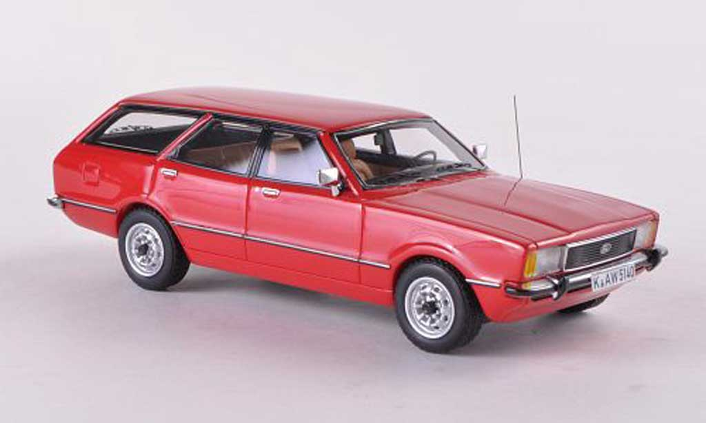 Ford Taunus 1/43 Neo TC2 Turnier GL rouge 1976 miniature