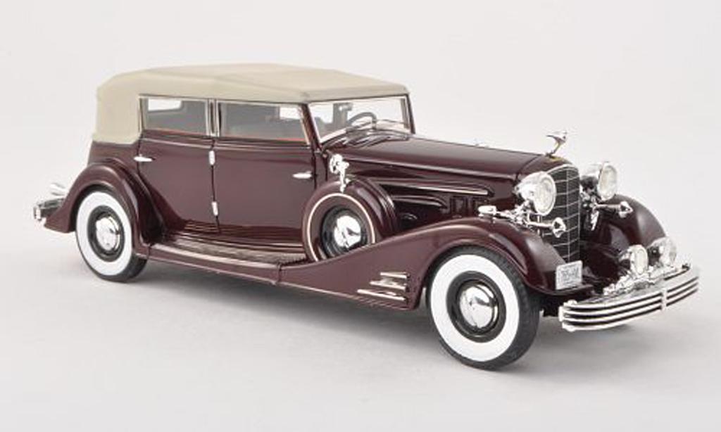 Cadillac Fleetwood 1/43 Neo Allweather Phaeton black-red/black-beige 1933 diecast model cars