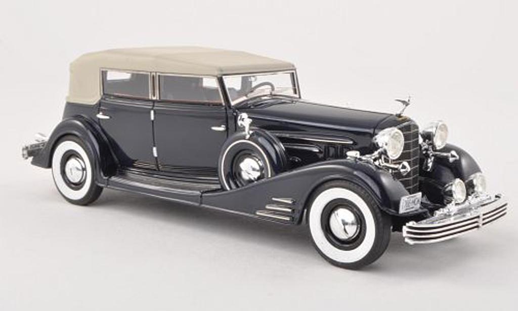 Cadillac Fleetwood 1/43 Neo Allweather Pheaton noire-bleu limitee edition 300 piece 1933 miniature