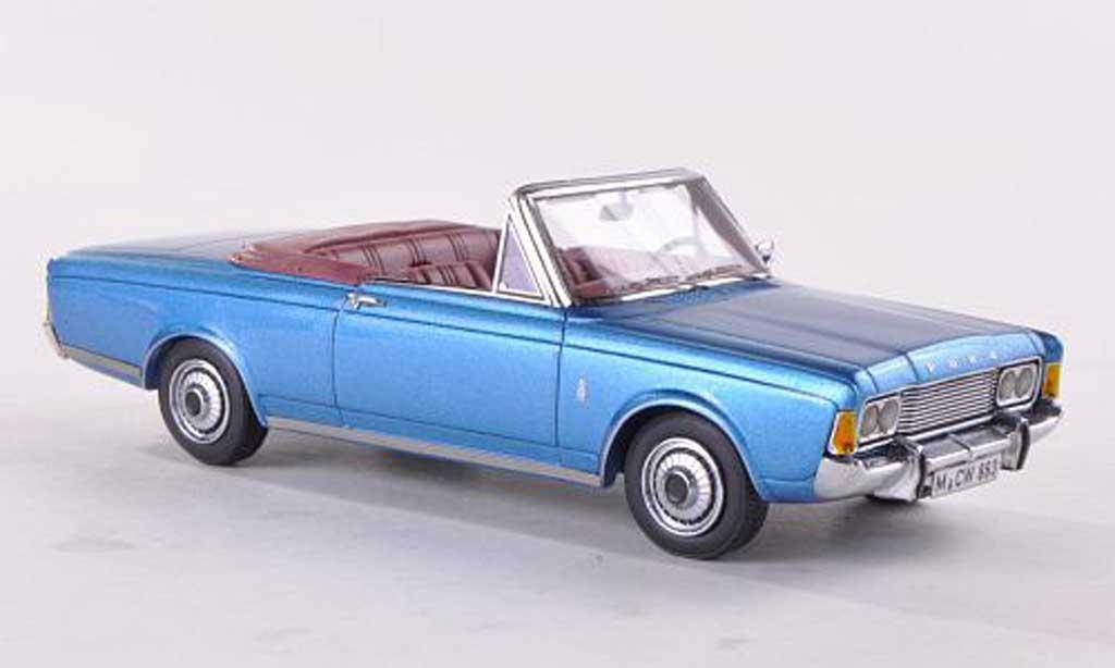 Ford Taunus 1970 1/43 Neo (P7b) 26M Cabriolet Deutsch  bleue limitierte Auflage 300 Stuck miniature