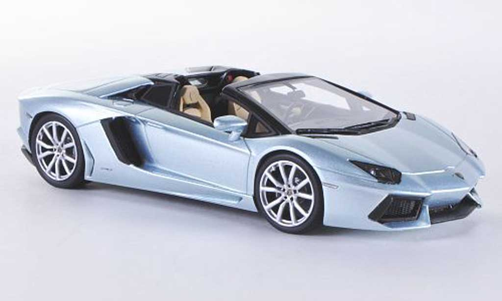 Lamborghini Aventador Roadster 1/43 Look Smart LP700-4 grisebleue  miniature