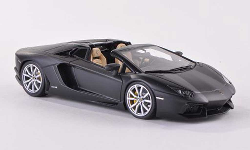 Lamborghini Aventador Roadster 1/43 Look Smart LP700-4 mattnoire  miniature