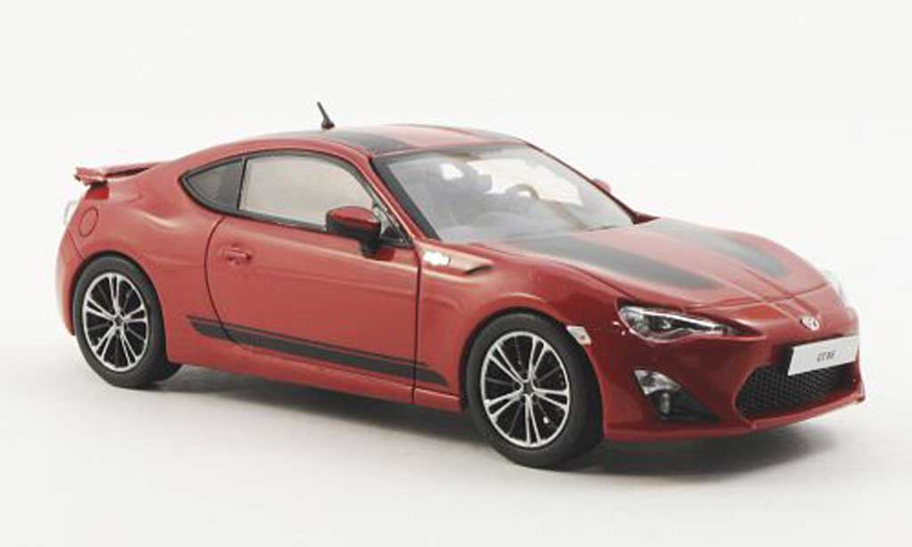 Toyota 86 2012 1/43 J Collection GT 1st Edition rouge/noire LHD miniature
