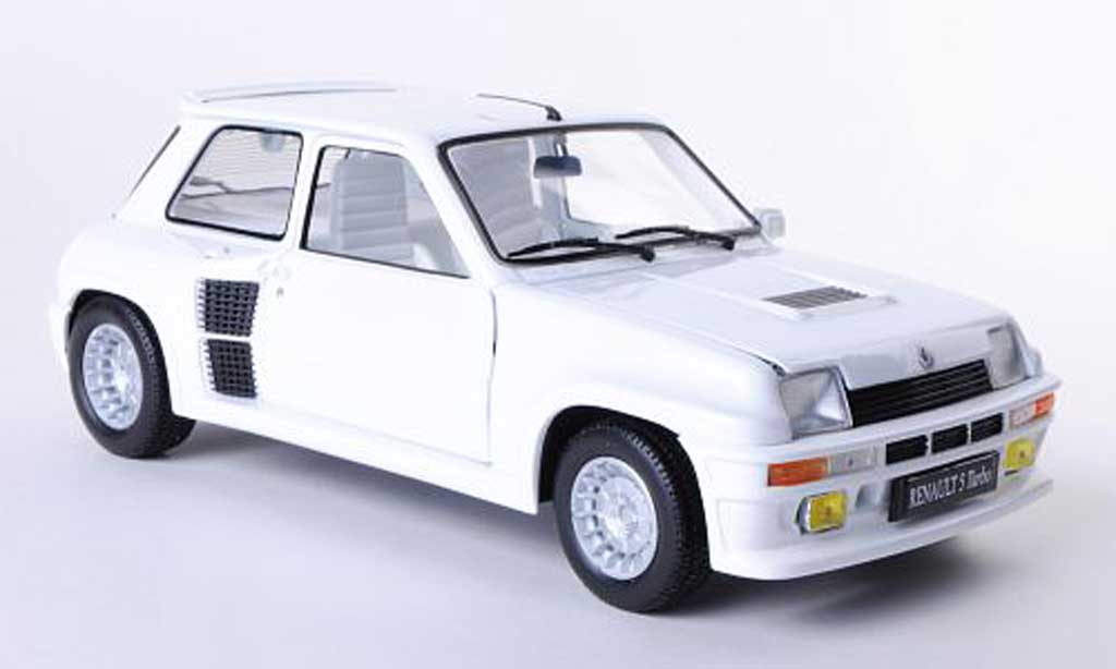 Renault 5 Turbo 1/18 Universal Hobbies 5 Turbo bianca miniatura