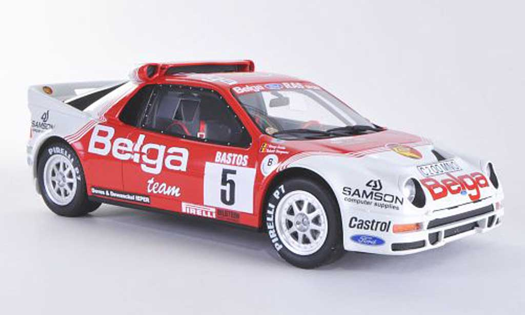 Ford RS 200 1/18 Ottomobile No.5 Belga - RAS Sport R.Droogmans / R.Joosten Rally Ypern 1986 miniature