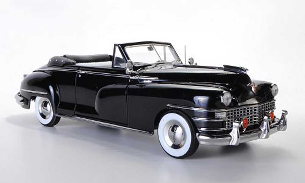 Chrysler New Yorker 1/18 Signature 2-Door Convertible noire 1948 miniature