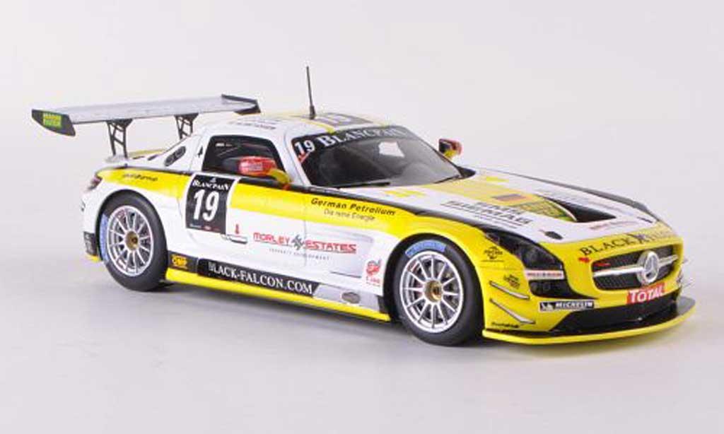 Mercedes SLS 1/43 Spark AMG GT3 No.19 Black Falcon 24h Spa 2012 O.Morley/K.Heyer/S.Rosler/M.Metzger miniature