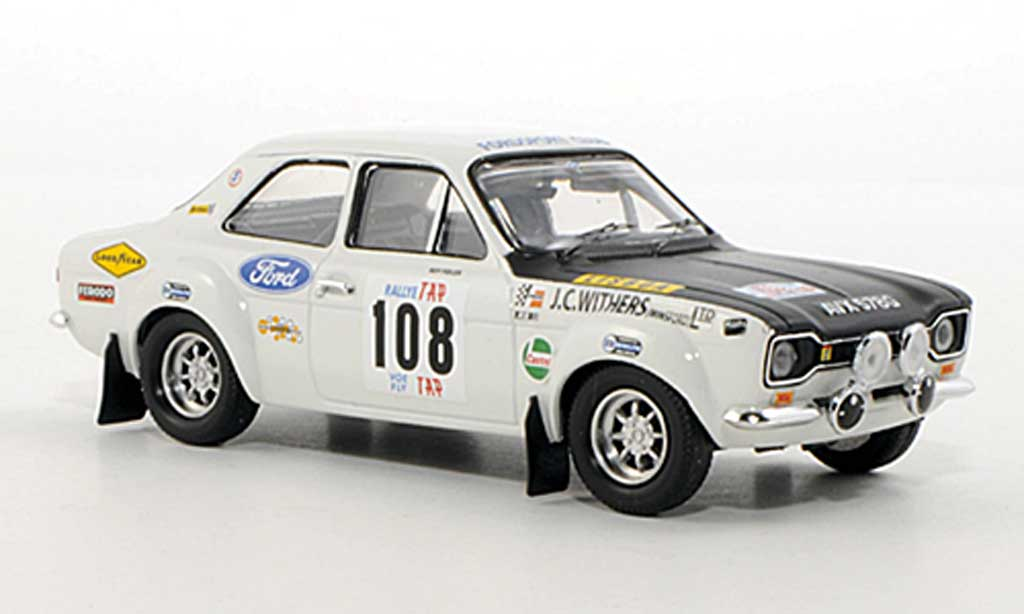 Ford Escort MK1 1/43 Trofeu 1600 TC No.108 R.Fiddler / B.Hughes Rally Portugal 1970 miniature