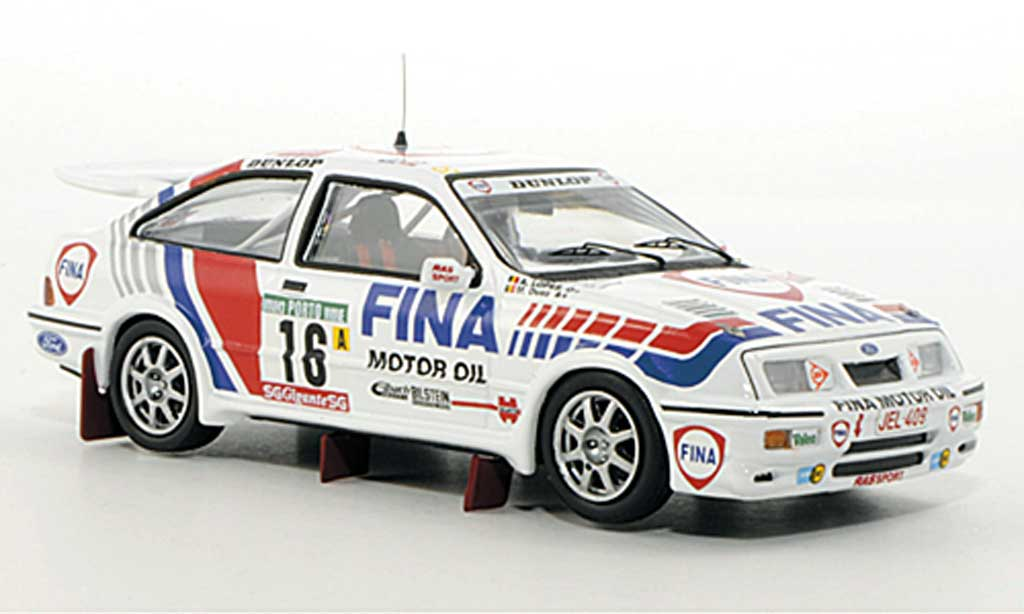 Ford Sierra Cosworth 1/43 Trofeu  No.16 Fina M.Duez / A.Lopes Rally Portugal 1990 miniature