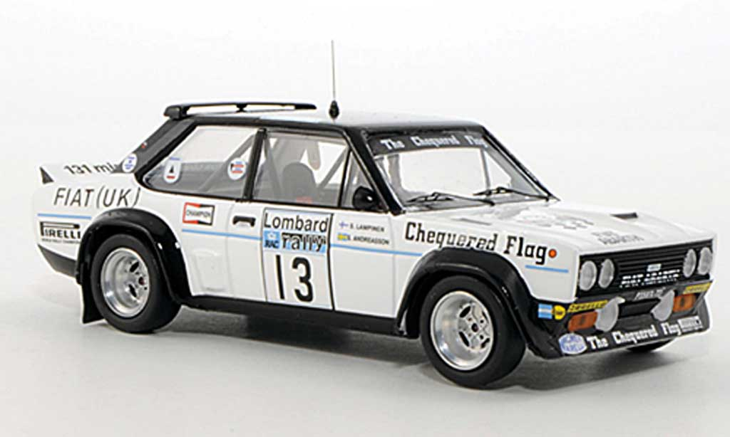 Fiat 131 Abarth 1/43 Trofeu No.13 Chequered Flag S.Andreasson / S.Lampinen RAC Rally Grossbritannien 1977 diecast model cars