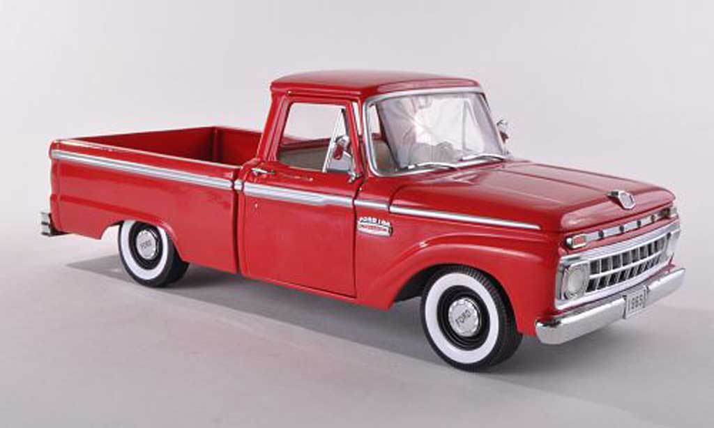 Ford F100 1/18 Sun Star Douane Cab Pickup rouge  1965 miniature