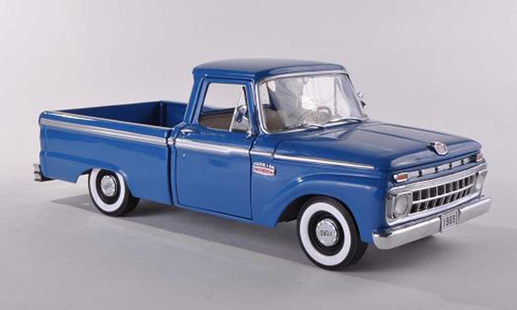 Ford F100 1/18 Sun Star Douane Cab Pickup bleu  1965 miniature