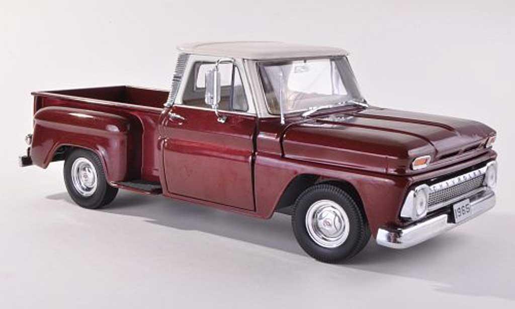 Chevrolet C-10 1/43 Sun Star Pick Up Stepside noire-rouge/beige miniature