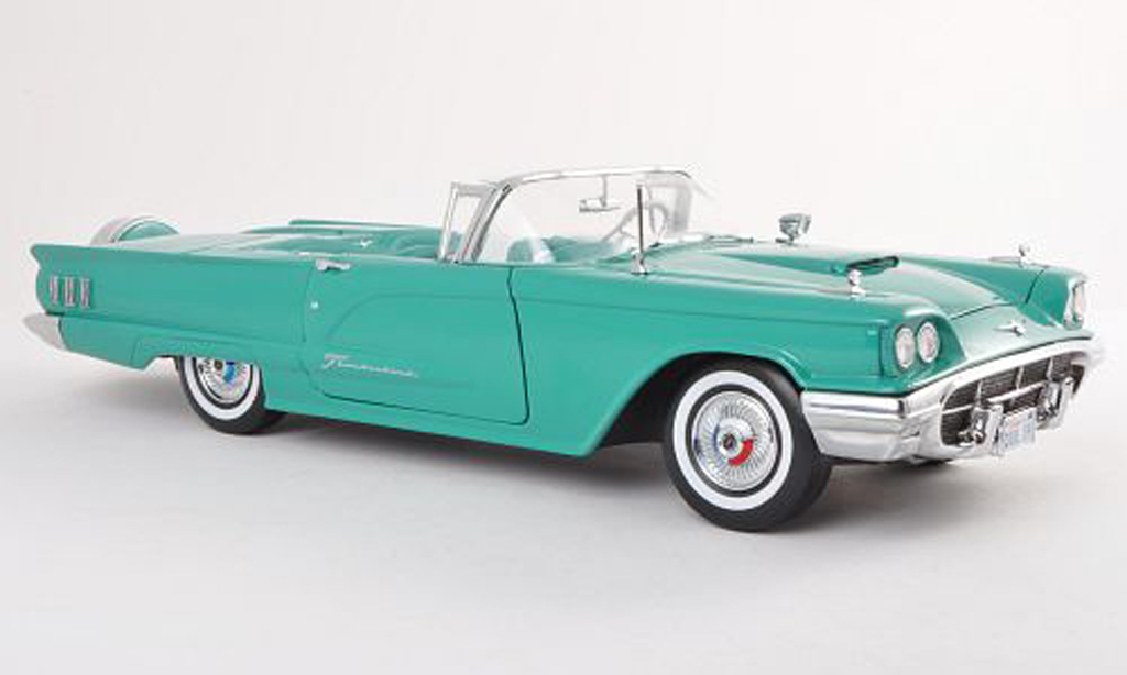 Ford Thunderbird 1960 1/18 Sun Star Convertible black-turquoise diecast model cars