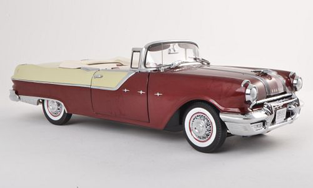 Pontiac Star Chief 1/18 Sun Star Convertible blanche/noire-brun 1955 miniature