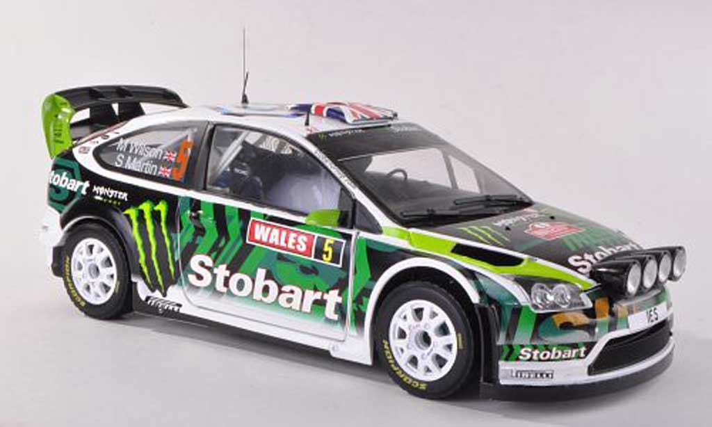 Ford Focus RS WRC 1/43 Sun Star 2008 No.5 Stobart/Monster Rally Grande-Bretagne  2010 M.Wilson/S.Martin miniature