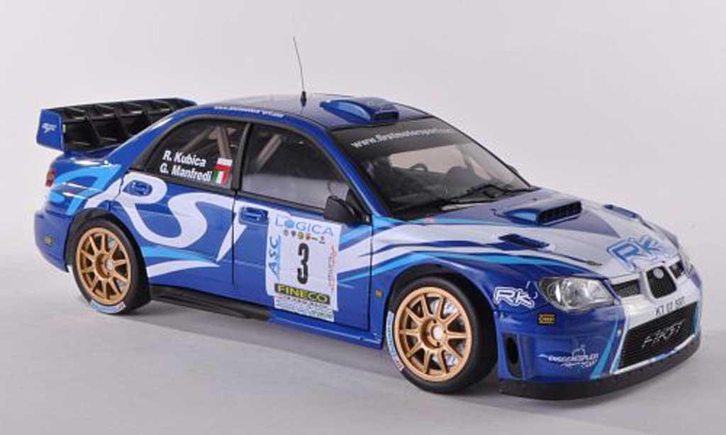 Subaru Impreza WRC 1/18 Sun Star 07 No.3 Ronde Gomitolo di Lana 2012 R.Kubica/G.Manfredi modellino in miniatura