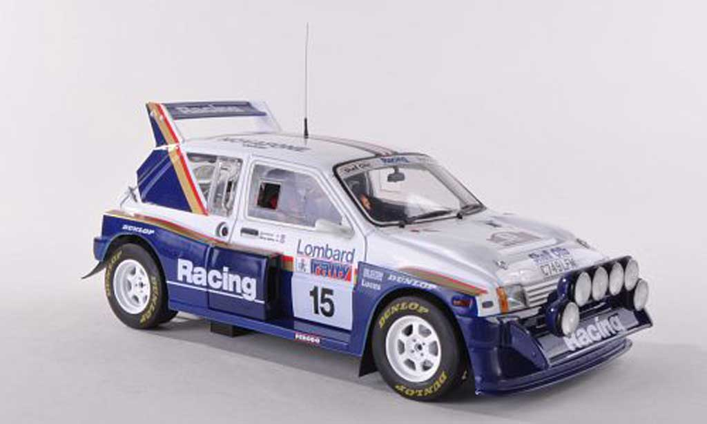 MG Metro 1/18 Sun Star 6R4 No.15 Rothmans RAC Rally  1986 J.McRae/I.Grindrod miniature