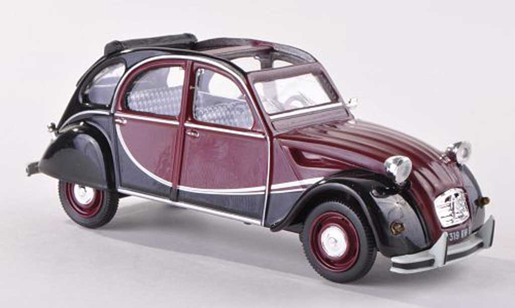 Citroen 2CV 1/43 Vitesse Charleston black-red/black  1982 diecast