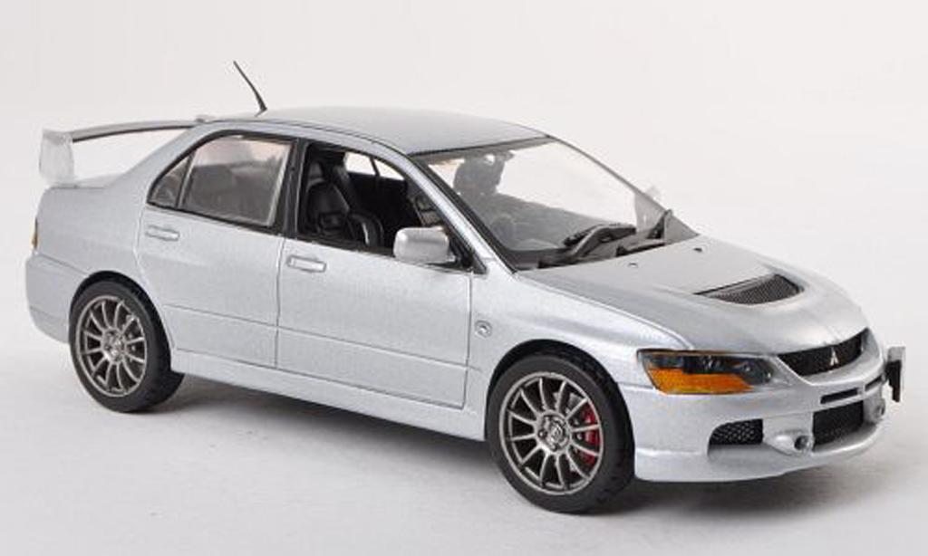 Mitsubishi Lancer Evolution IX 1/43 Vitesse grise RHD miniature