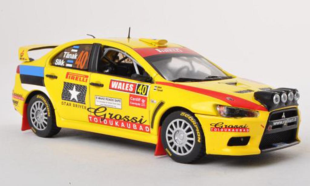 Mitsubishi Lancer Evolution X 1/43 Vitesse No.40 Rally of Great Britain 2010 miniature