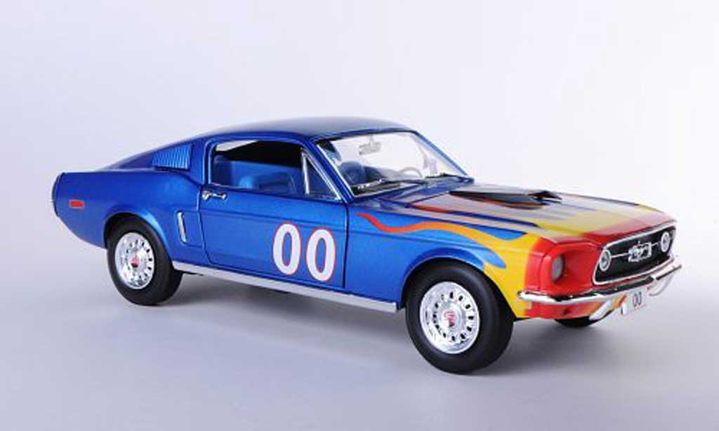 Ford Mustang 1968 1/18 Johnny Lightning 1968 Fastback No.00 The Dukes of Hazzard - Cooter's 1968 miniature
