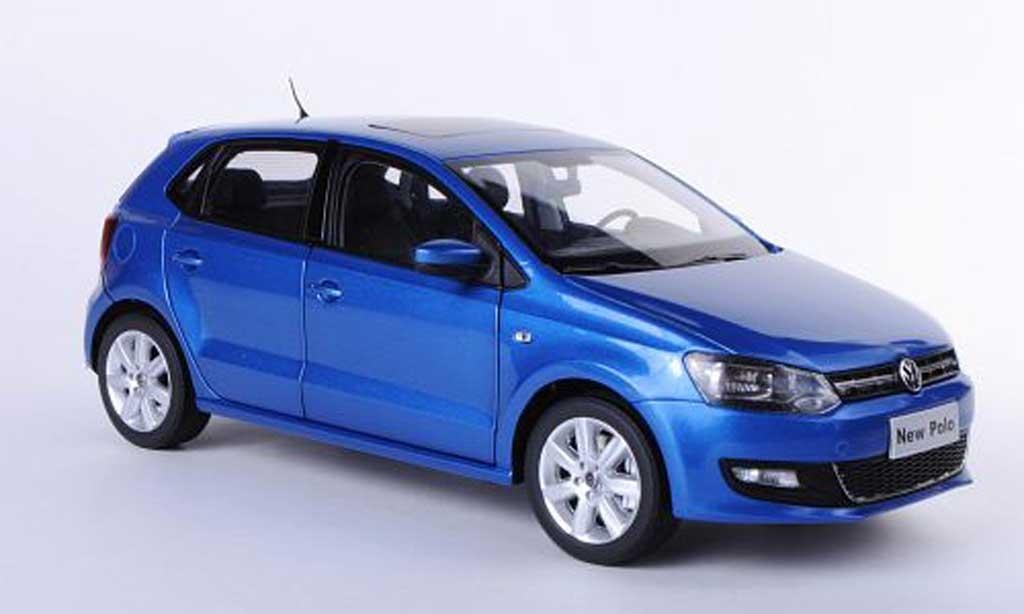 Volkswagen Polo 1/18 Paudi V bleu Asien-Version 2011 miniature